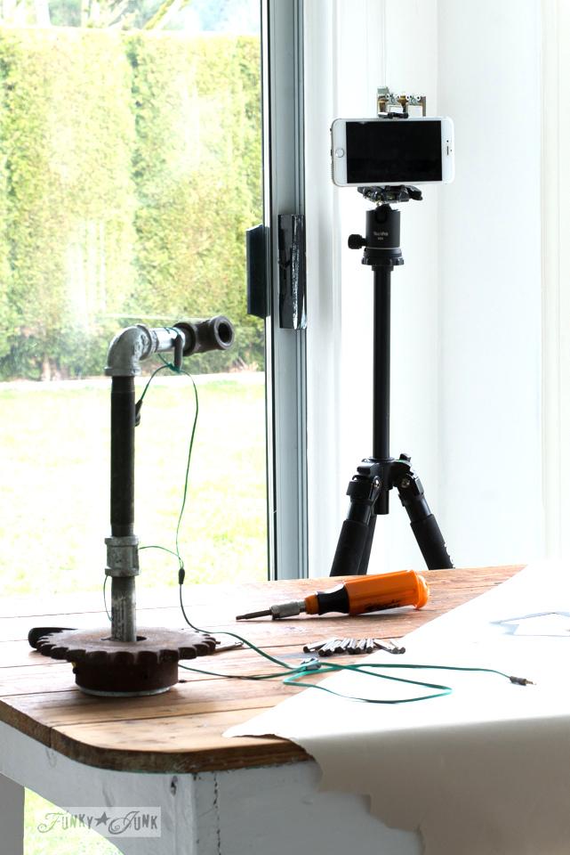 How I set up a cheap live broadcasting studio   funkyjunkinteriors.net