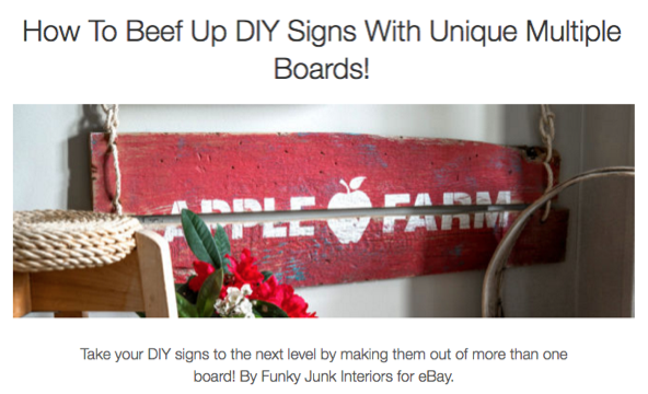 How to beef up DIY signs with unique multiple boards! By Funky Junk Interiors for eBay