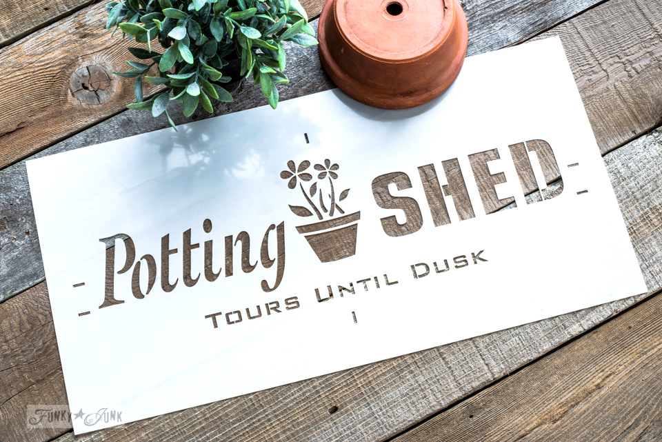 Potting Shed | Funky Junk's Old Sign Stencils