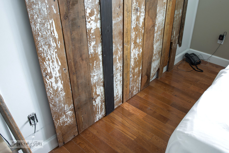 A Cheater Reclaimed Wood Barn Door Headboard With Faux
