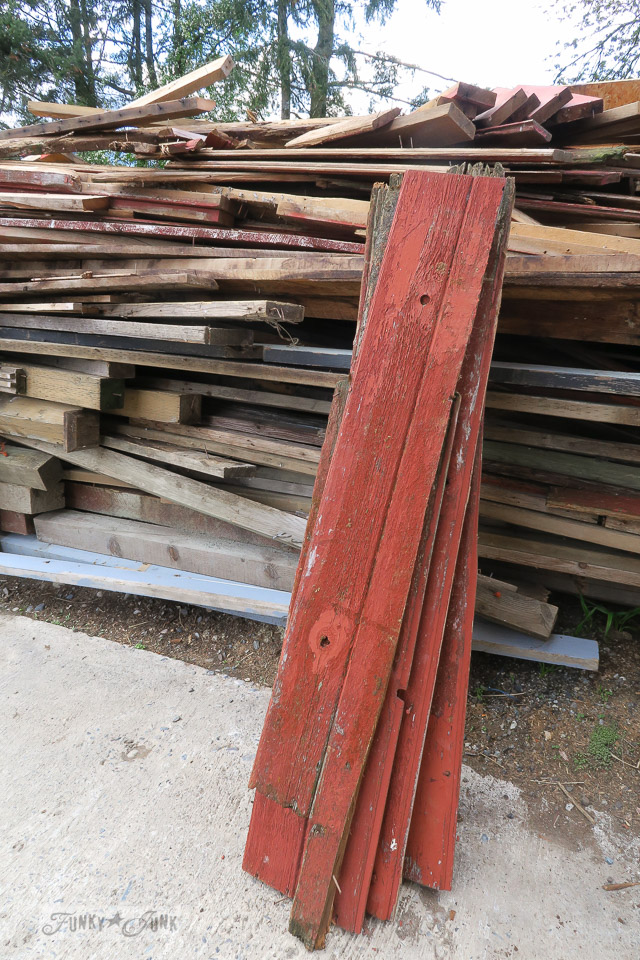Scavenging red barn wood from my childhood farm
