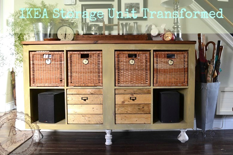 Ikea Hack Dresser With Different Drawers, by Sharon M For The Home, featured on Funky Junk Interiors