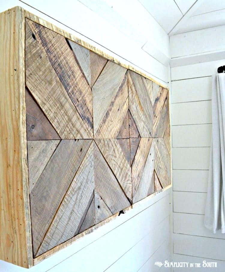 DIY Reclaimed Wood Sliding TV Cover by Simplicity in the South, featured on Funky Junk Interiors