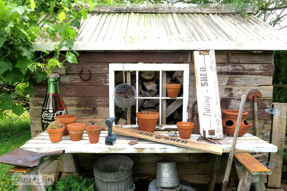 Starting over with the potting shed design