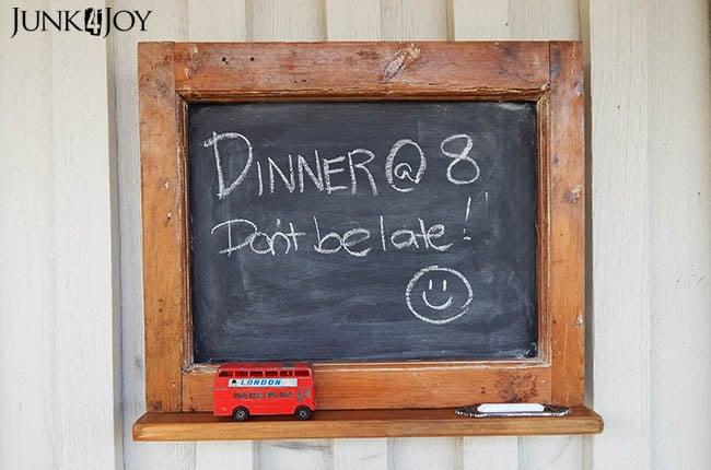 Old window chalkboard, by Zefi's Blog Junk 4 Joy, featured on Funky Junk Interiors