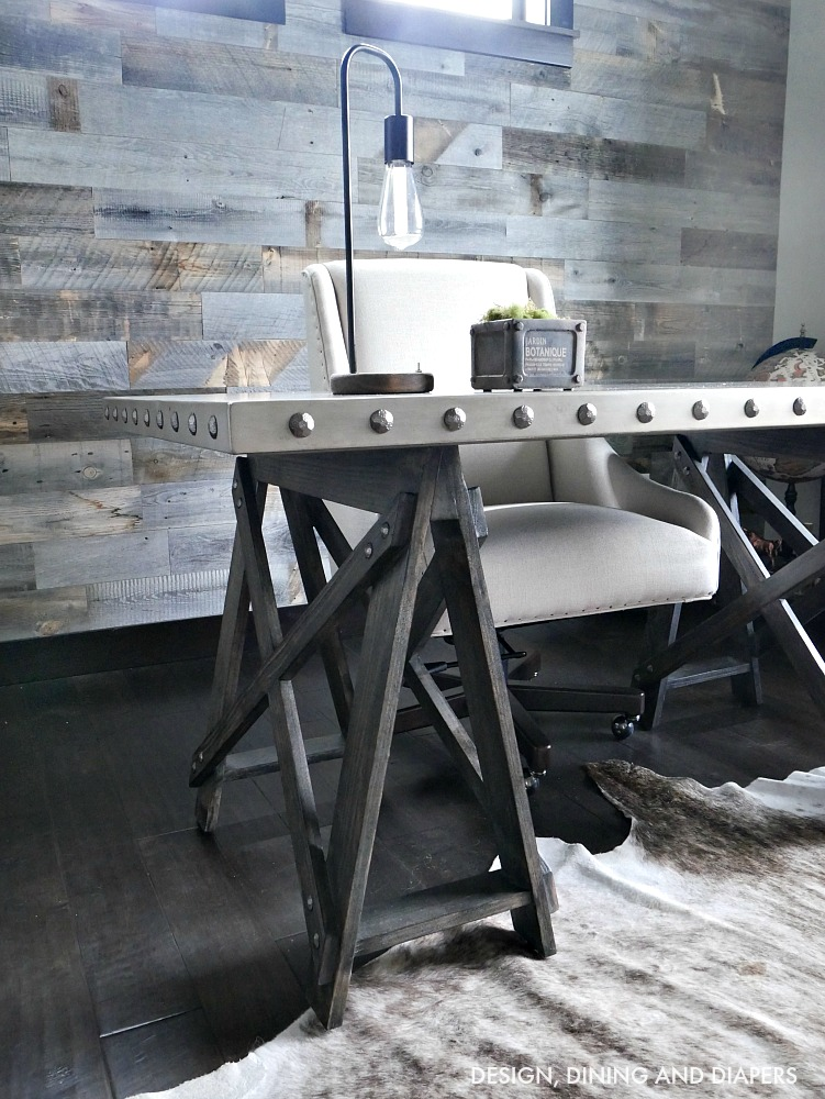 Industrial rustic office by Design, Dining and Diapers, featured on Funky Junk Interiors