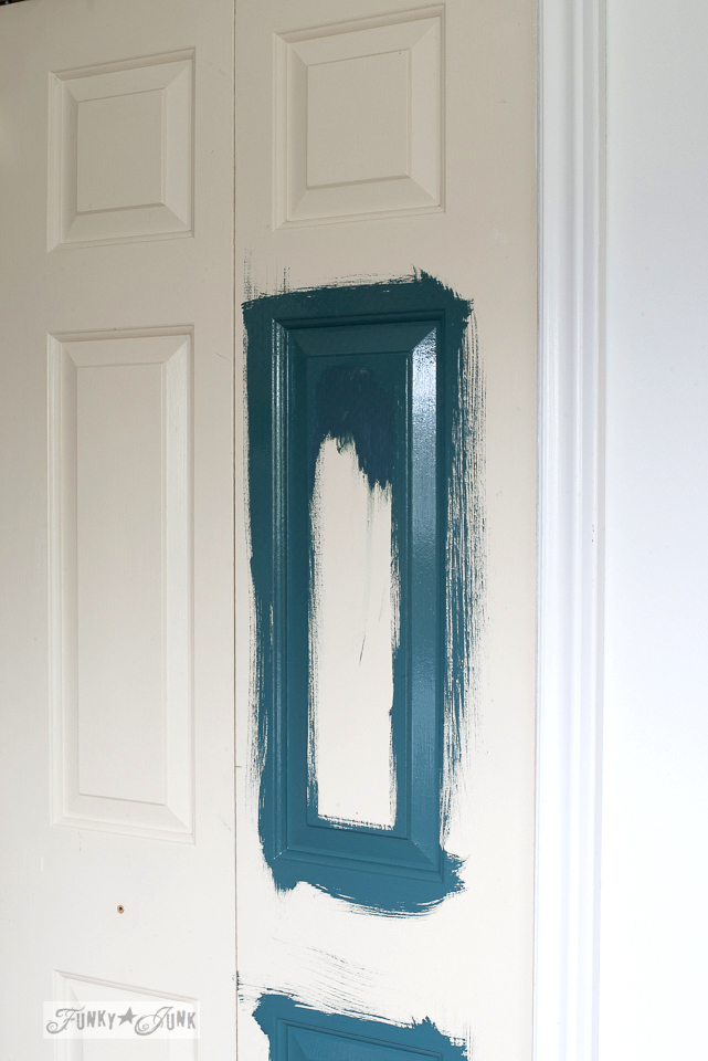 Painting closet doors Homestead Blue by Fusion Mineral Paint