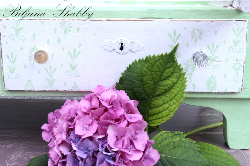 Shabby chic painted cupboard by Biljana Shabby, featured on Funky Junk Interiors