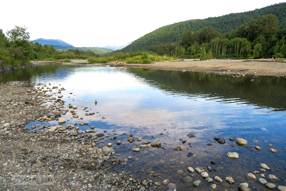 The drying Vedder River makes for some great still water beaches, in Chilliwack, BC Canada - part of When the river runs dry. | funkyjunkinteriors.net