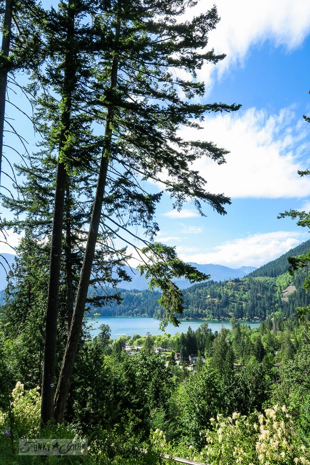 Kawkawa Lake scenic view sighted from the mountains at Othello Tunnels in Hope BC Canada | funkjunkinteriors.net