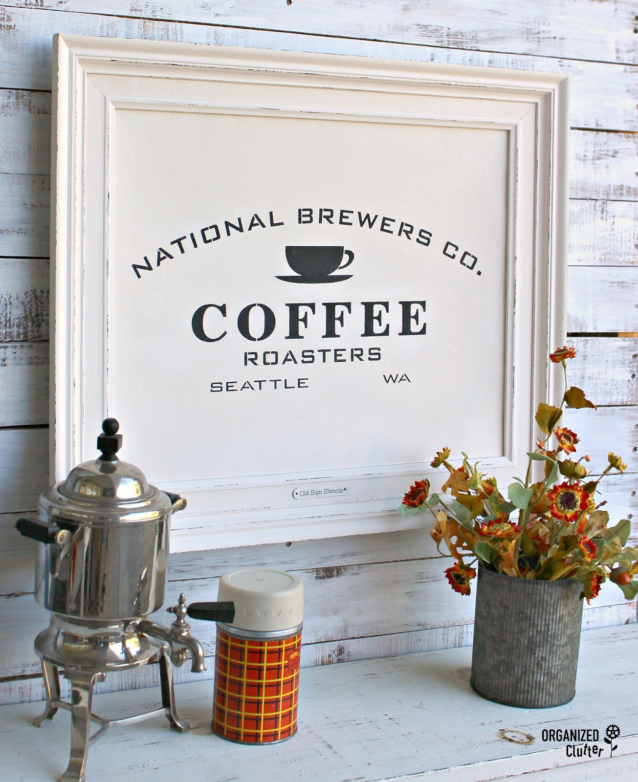 Coffee picture wall art by Organized Clutter, featured on Funky Junk Interiors