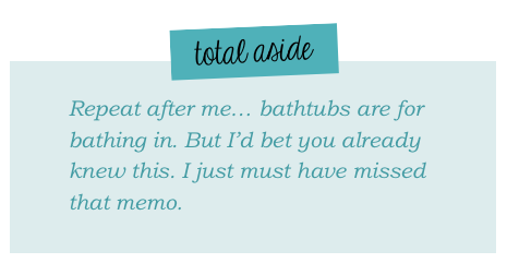 Total aside: on bathtub curves