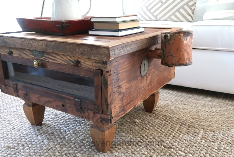 Chicken incubator coffee table by Scavenger Chic, featured on Funky Junk Interiors