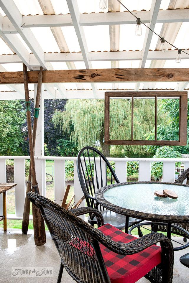 cabin inspired patio | funkyjunkinteriors.net