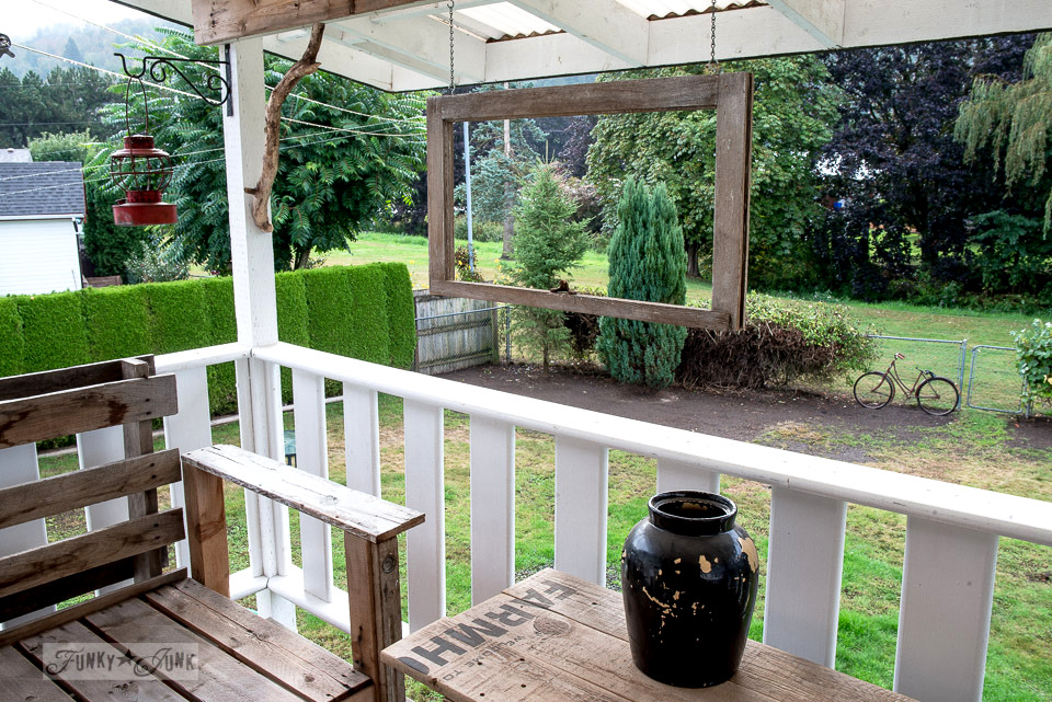 cleaning up the patio for fall| funkyjunkinteriors.net