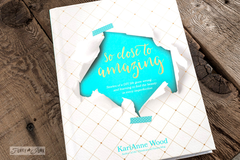 So Close To Amazing, a book review by KariAnne of Thistlewood Farms on celebrating you just the way you are! funkyjunkinteriors.net