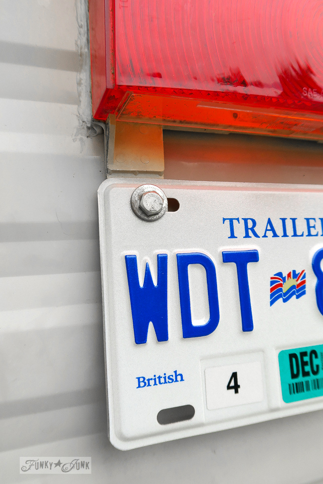 license plate for a travel trailer