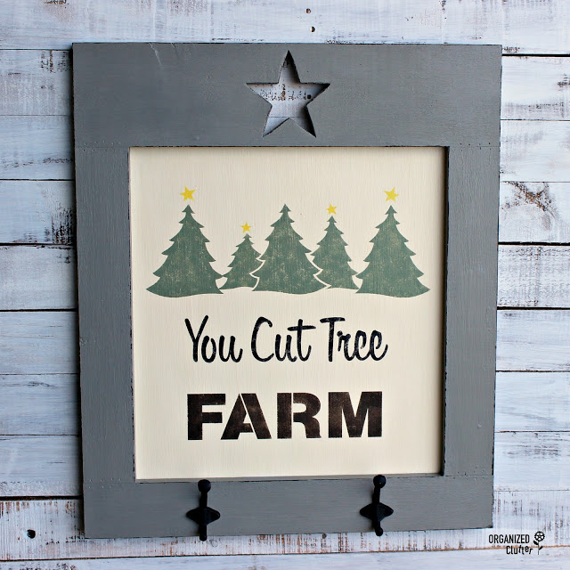 You Cut Tree Farm sign by Organized Clutter, featured on Funky Junk Interiors