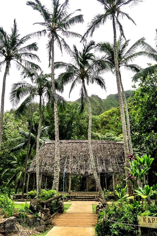 A historic hut in Maui's Kepaniwai Park. Gorgeous stone floor! funkyjunkinteriors.net