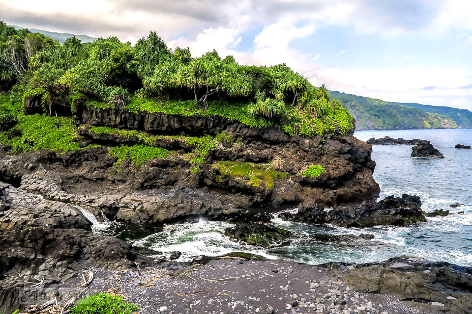The 7 Sacred Pools ocean lookout during our Road to Hana trip in Maui, Hawaii - full story on funkyjunkinteriors.net