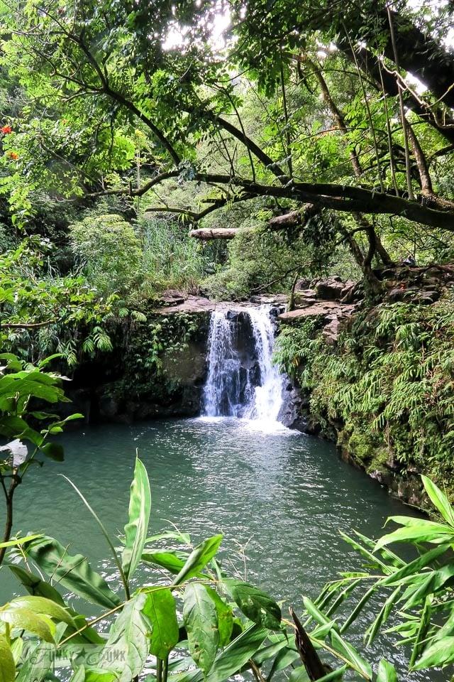 Puohokamoa Falls along the Road To Hana on Maui, Hawaii | funkyjunkinteriors.net
