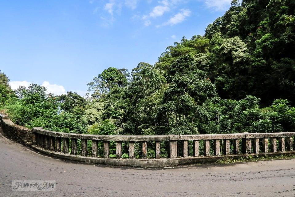 The scenic lookouts near the old bridges along The Road To Hana, Maui, Hawaii | funkyjunkinteriors.net