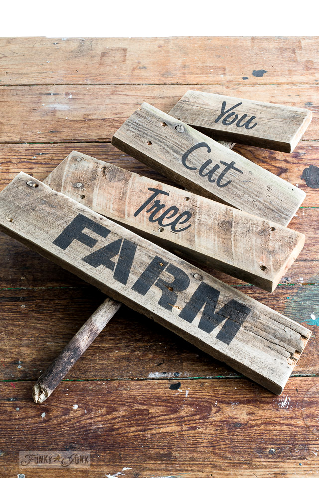 Pallet wood rustic You Cut Tree sign for Christmas