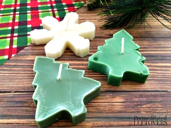 Scented Christmas cookie cutter candles by Premeditated Leftovers, featured on Funky Junk Interiors