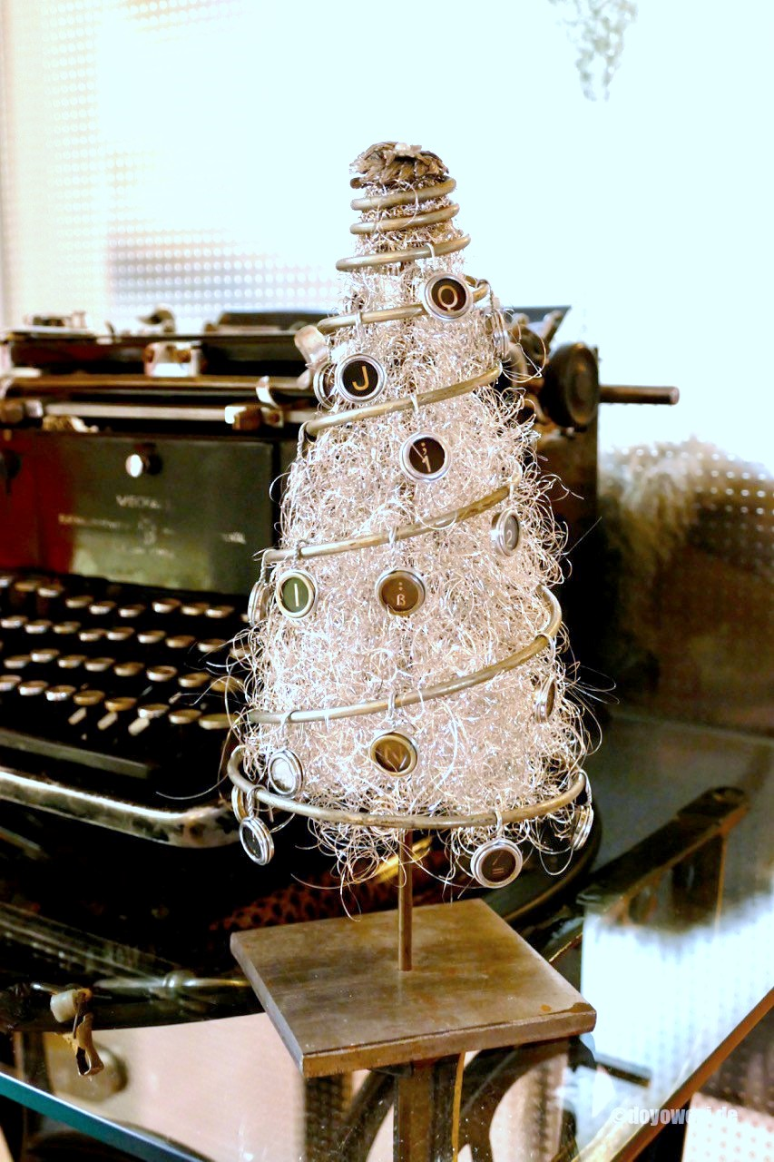 Repurposed spring and angel hair Christmas tree by Karin Urban, featured on Funky Junk Interiors