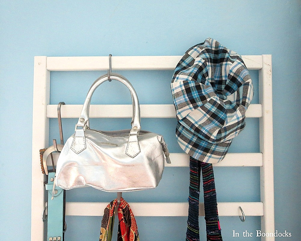 Crib clothing hanger by The Boondocks Blog, featured on Funky Junk Interiors