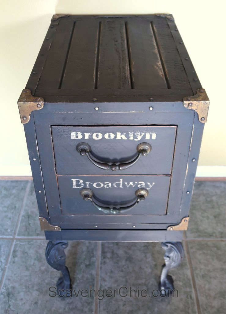 Copycat Graffiti Side Table by Scavenger Chic, featured on Funky Junk Interiors