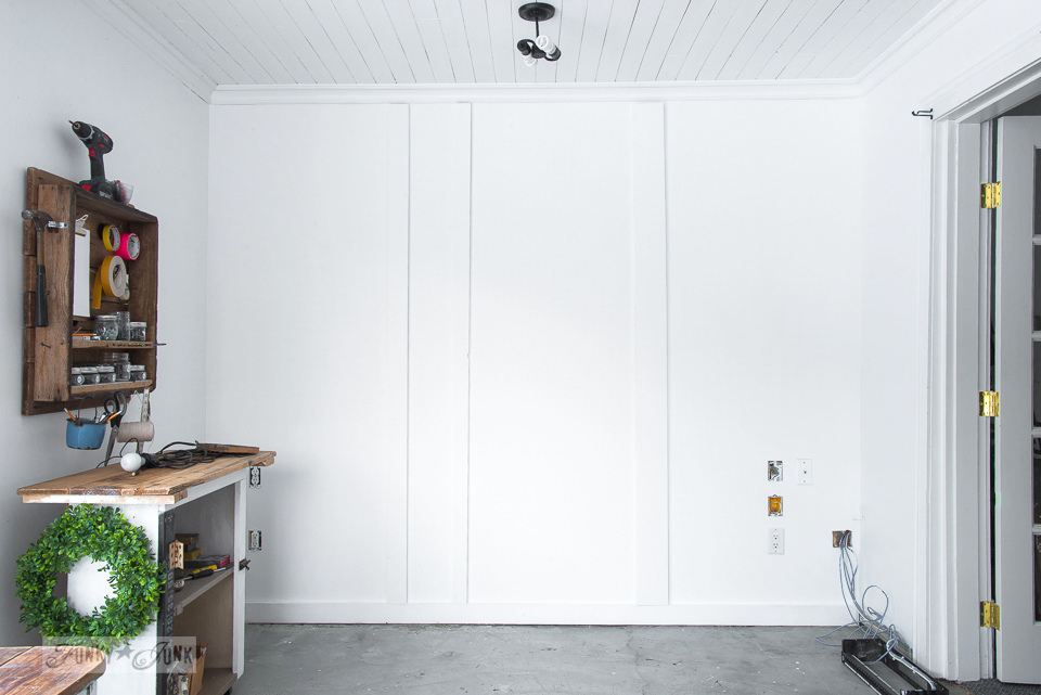 White board and batten photo studio wall for taking product shots | funkyjunkinteriors.net