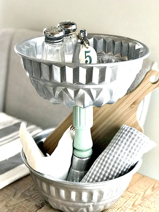 2-tiered industrial bakeware tray by Homeroad, featured on Funky Junk Interiors