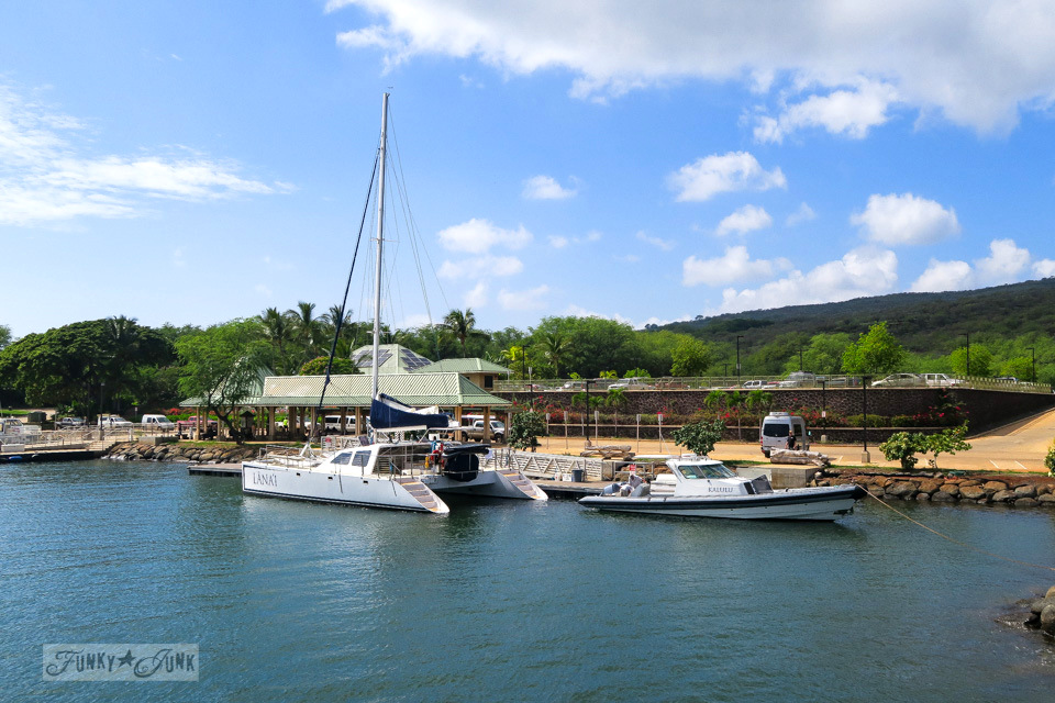 Lanai harbour in Lanai Hawaii