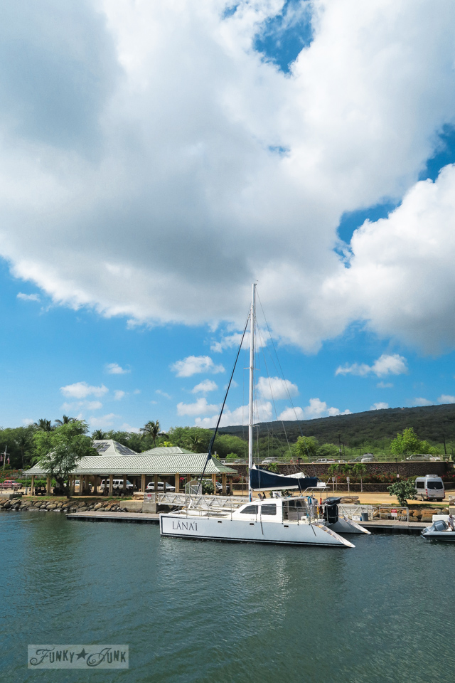 Lanai harbour in Lanai Hawaii