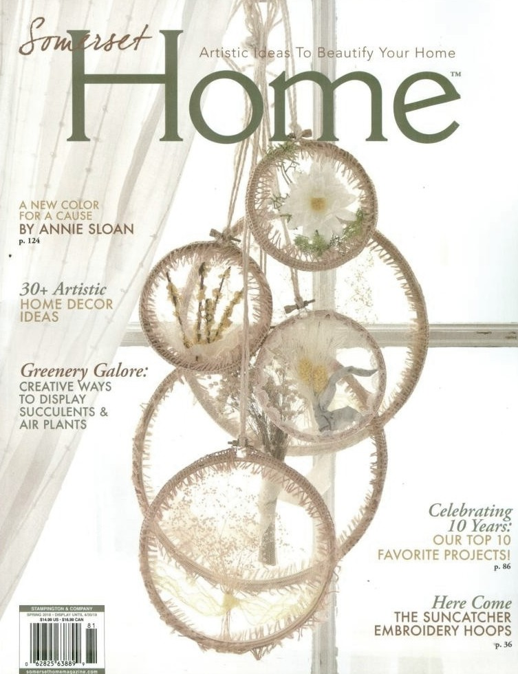 Farmhouse clock featured in Somerset Home Spring 2018