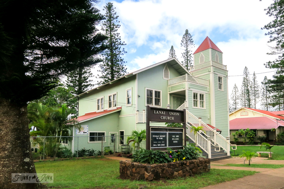 Plantation styled church in Lana'i City in Hawaii