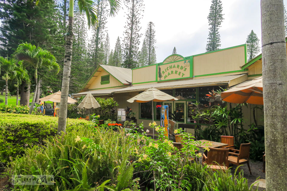 Richard's Market, a plantation styled grocery store in Lana'i City in Hawaii