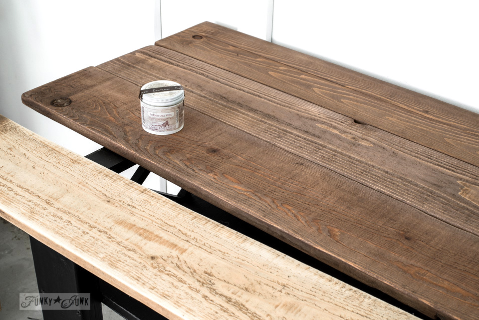 Waxing Reclaimed Wood Planks With Fusion Mineral Paintu0027s Espresso Furniture  Wax While Turning A Coffee Table