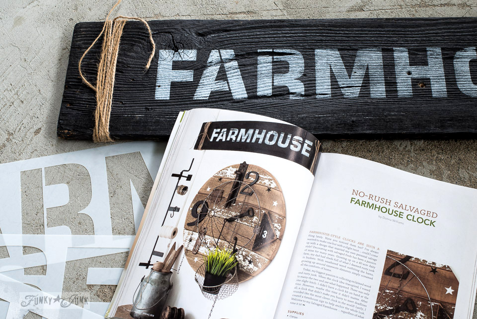Farmhouse salvaged clock magazine feature and story