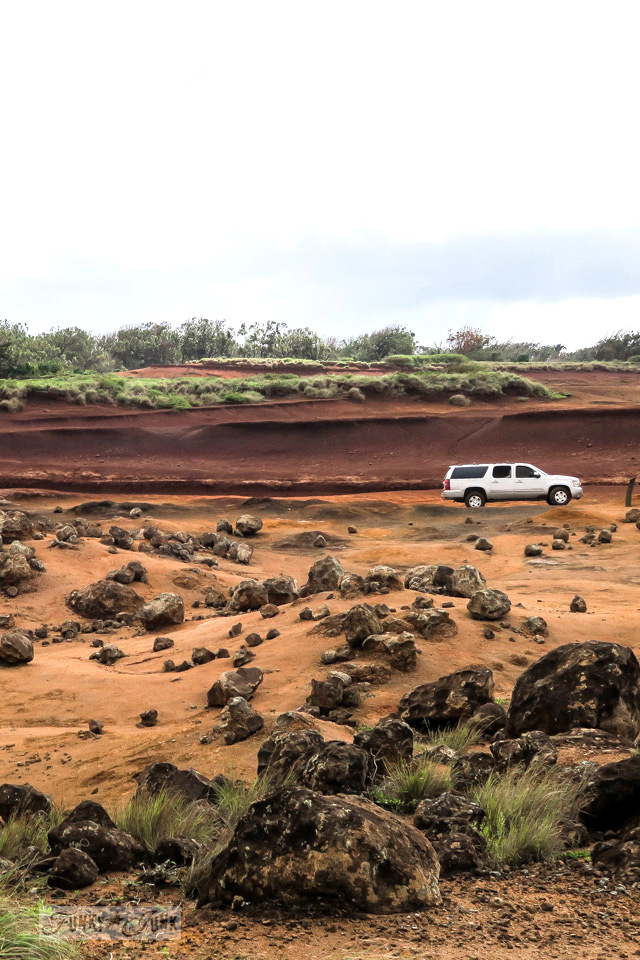 Visiting Garden of the Gods, a beautiful lunar landscape on the island of Lanai, Hawaii