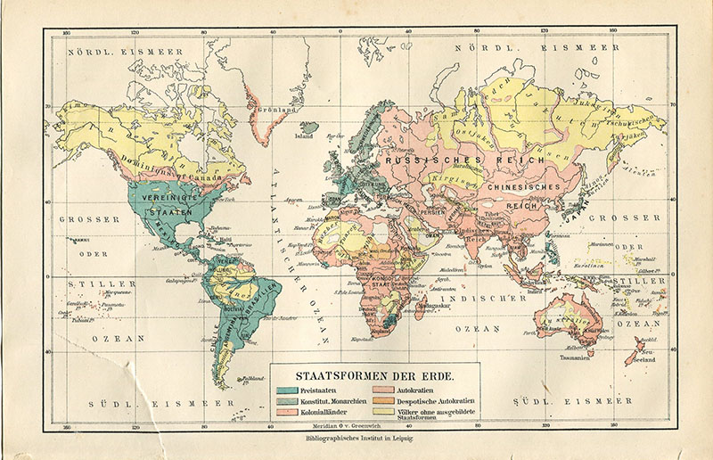 Printable vintage maps by Pillar Box Blue, featured on Funky Junk Interiors