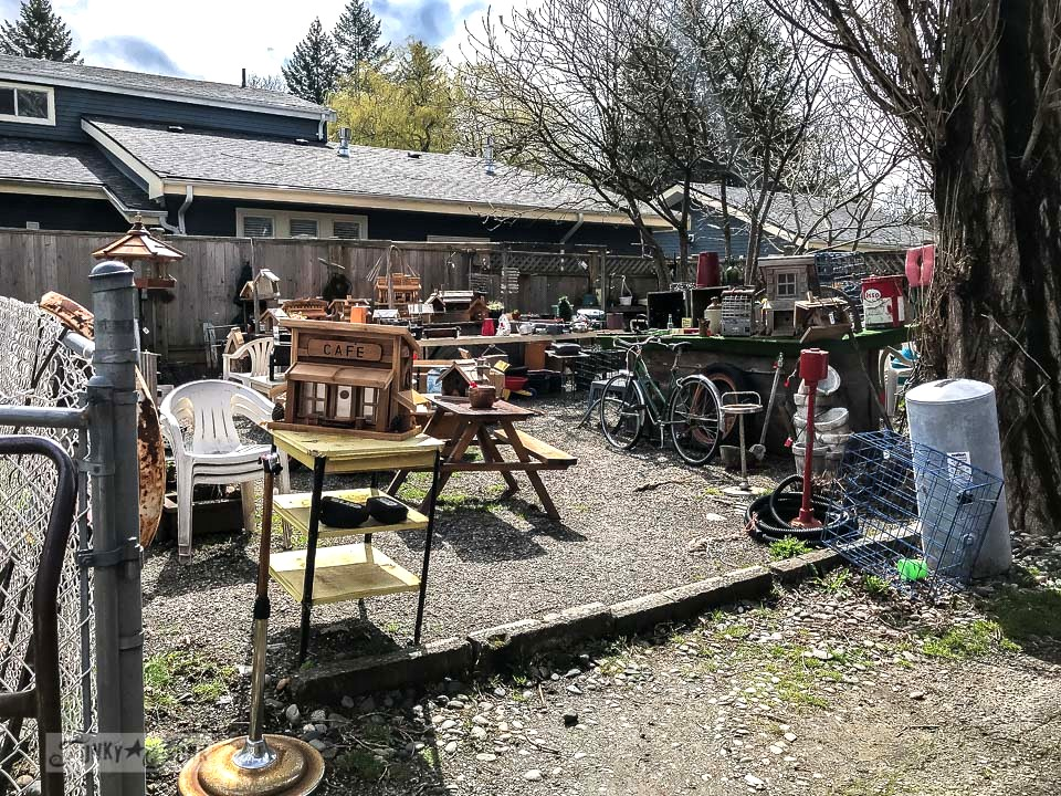 vintage junk shopping at Rusty's New & Used in Harrison Hot Springs, BC