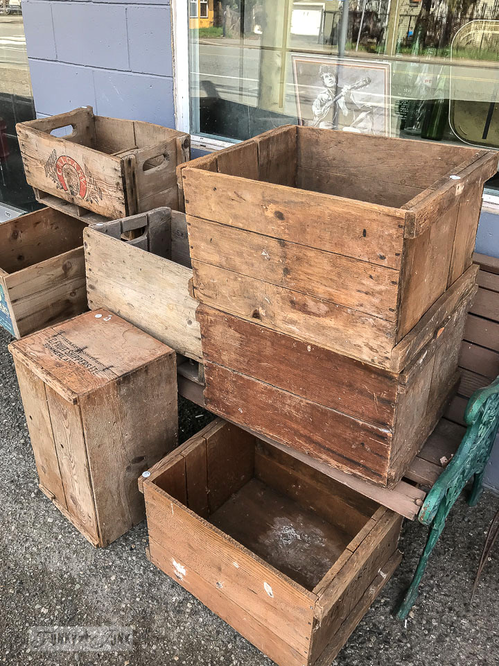 stacked vintage crates for sale in Rosedale, BC