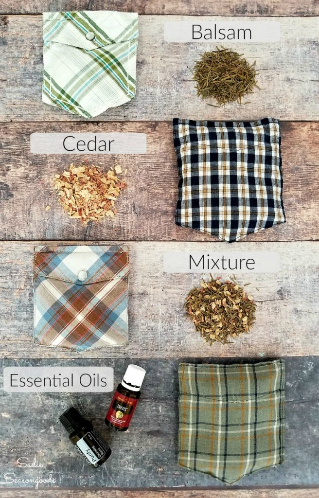 Shirt pocket sachets by Sadie Seasongoods, featured on Funky Junk Interiors