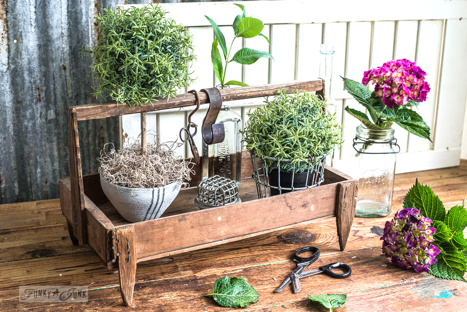 berry crate plant vignette, part of Building life beyond builder-grade beige - an inspiring read on how to enhance your own life