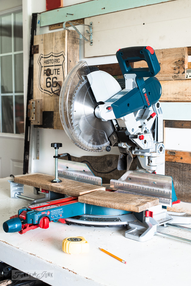 Bosch compound miter saw / Part of Basic Must-have tools for DIYers