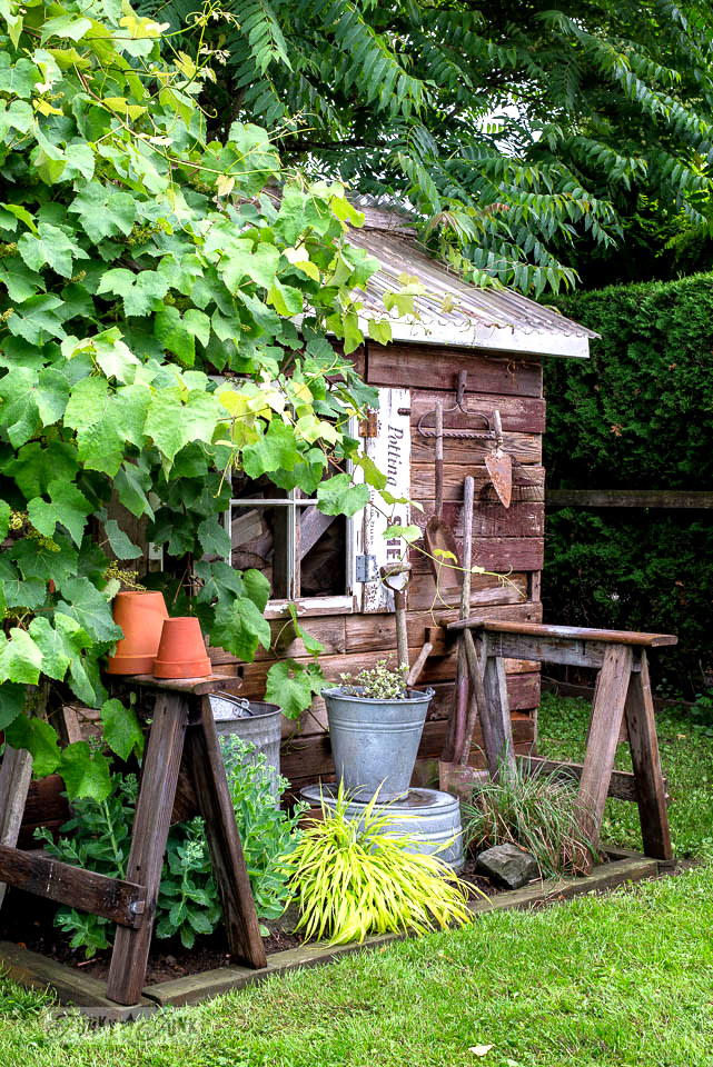 a rustic garden shed in Canada, part of Building life beyond builder-grade beige - an inspiring read on how to enhance your own life
