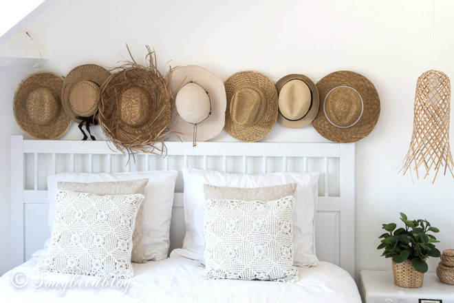 White boho bedroom by Songbird featured on Funky Junk Interiors