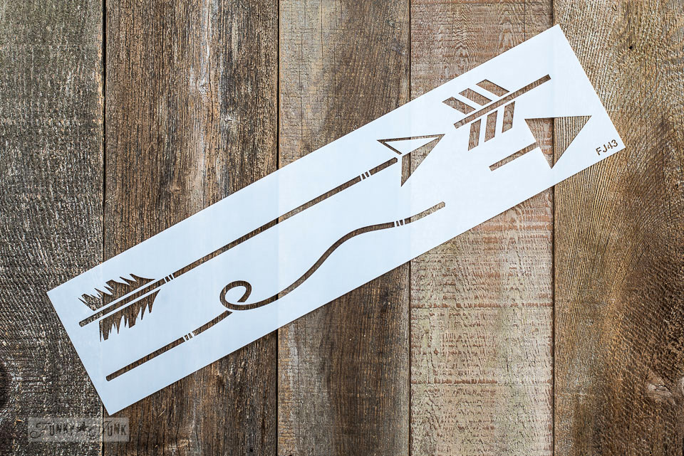 Design your own arrow art with this Arrow Kit stencil from Funky Junk's Old Sign Stencils